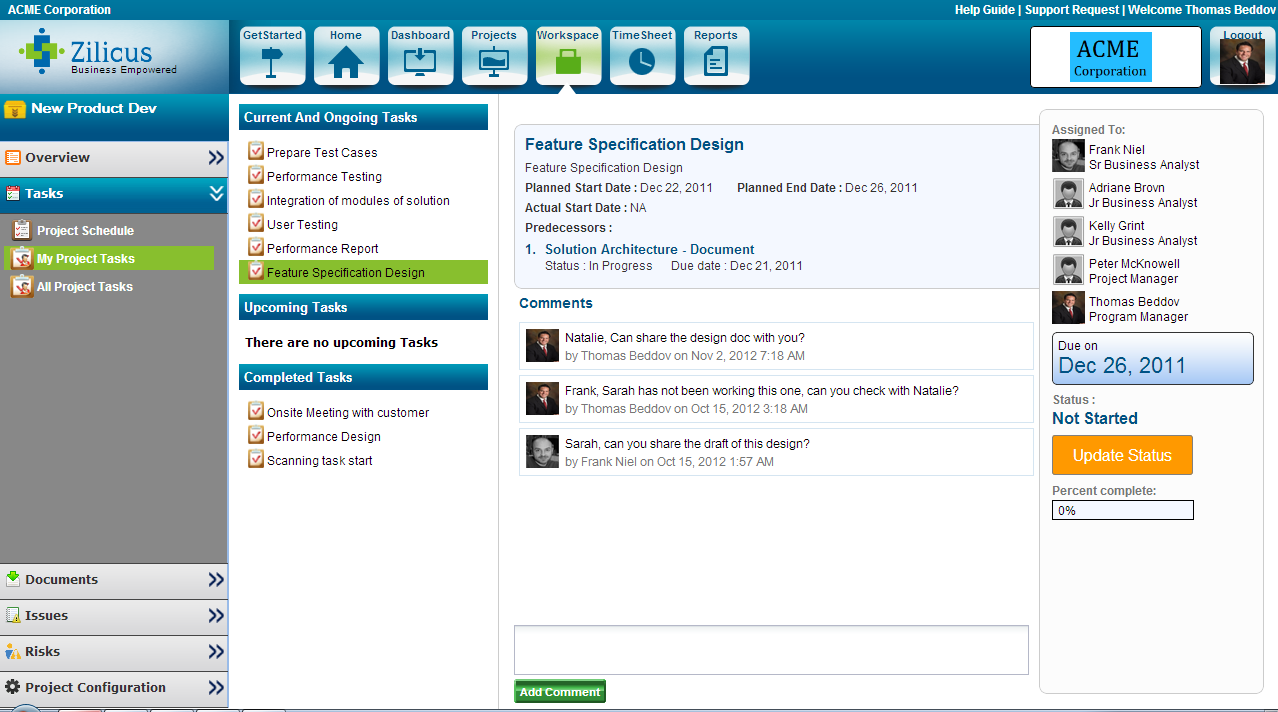 Early preview of zilicuspm 51 online project management software enhanced my task view in zilicuspm 1betcityfo Image collections