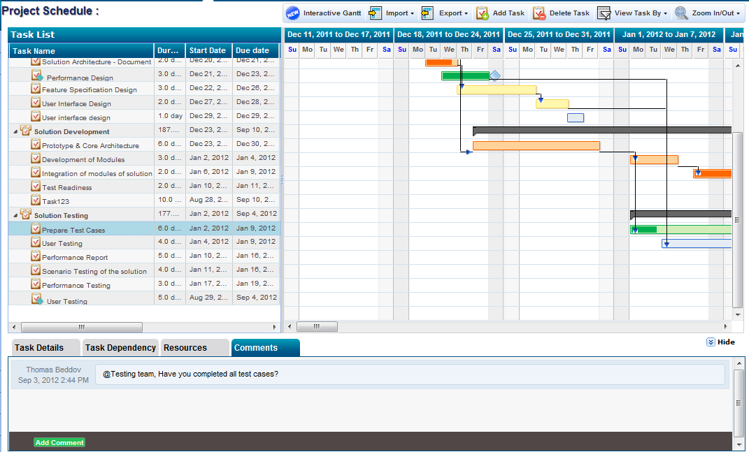 Adding Task Comments in Project Management Software ZilicusPM