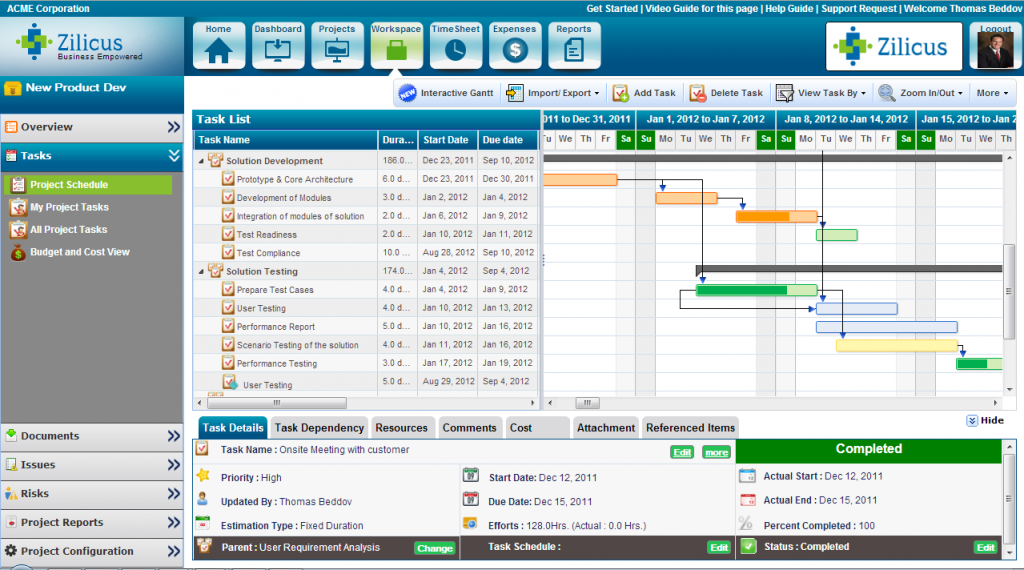 ZilicusPM - Online Project Management Software