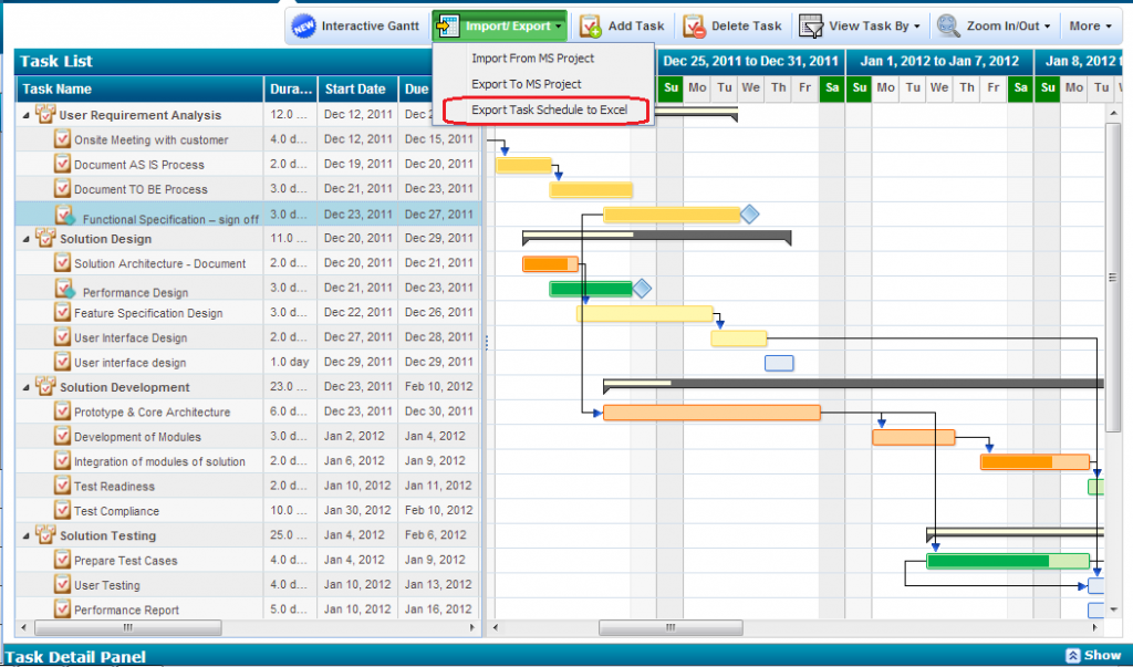export project task schedule to excel spreadsheet zilicus blog