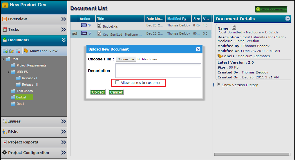 Document-Sharing-with-Customer- in ZilicusPM
