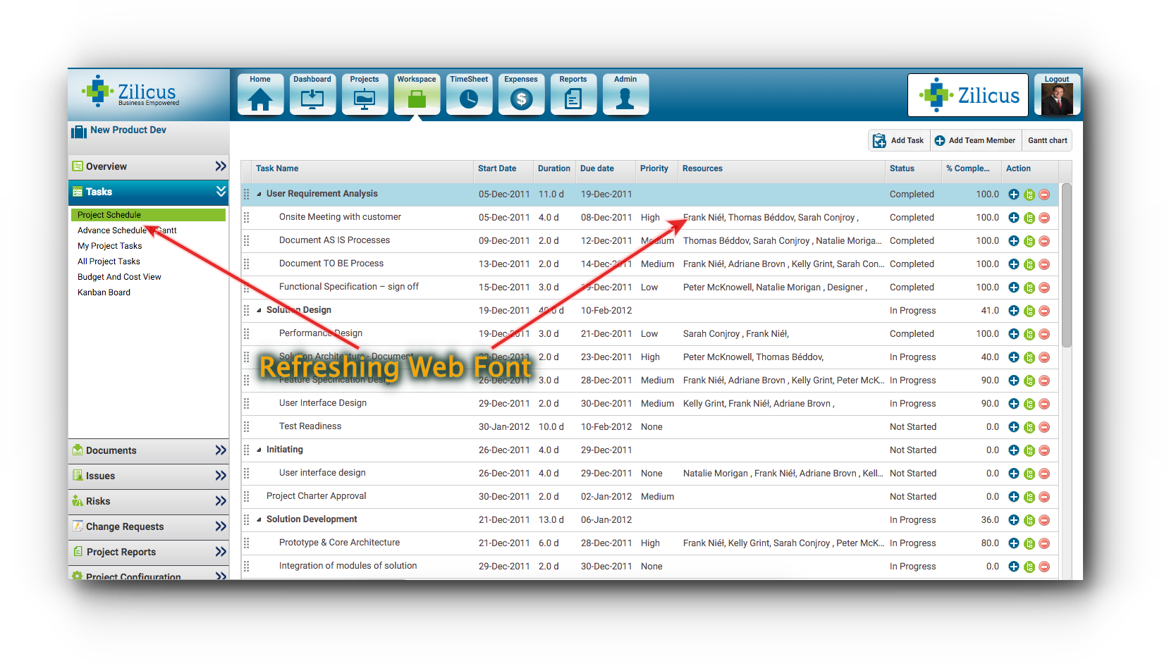 Project Management Tool ZilicusPM 14.3 Launched