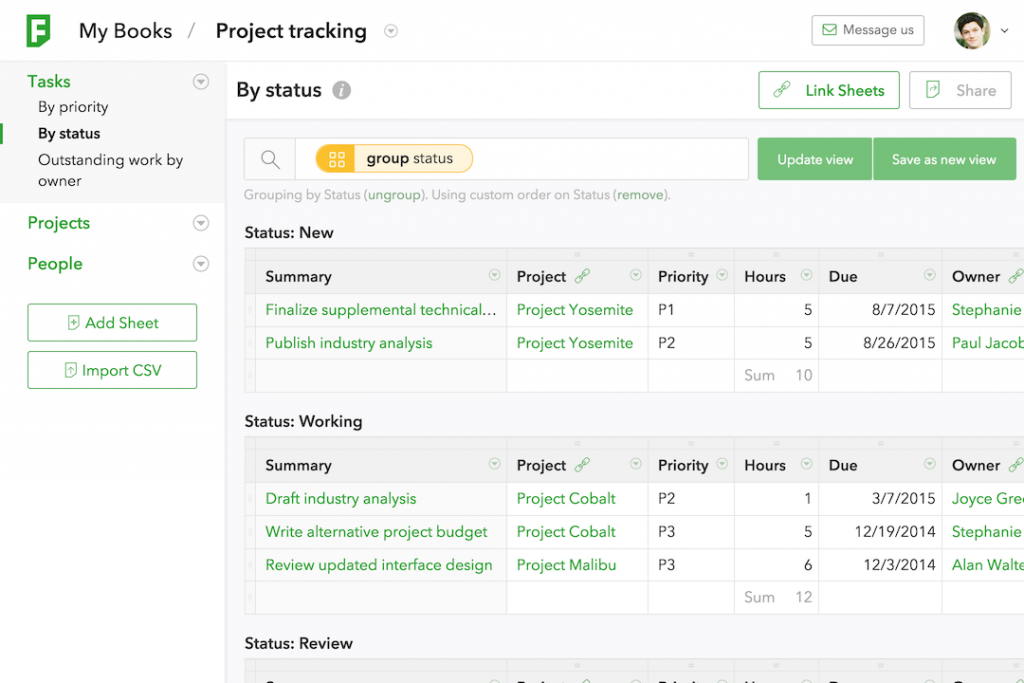 Fieldbook - Project Tracking Software