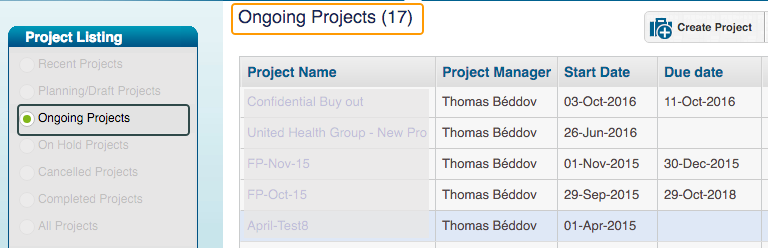 Number of Projects With In Progress Status - Project Status KPI