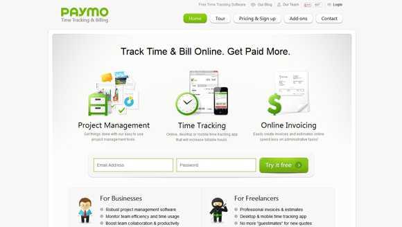 Paymo Time Tracker Tool
