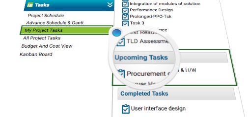 Upcoming Tasks in a Project - KPI for Project Team Member