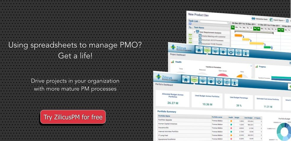 Manage project management office (PMO) with ZilicusPM : Explore ZilicusPM