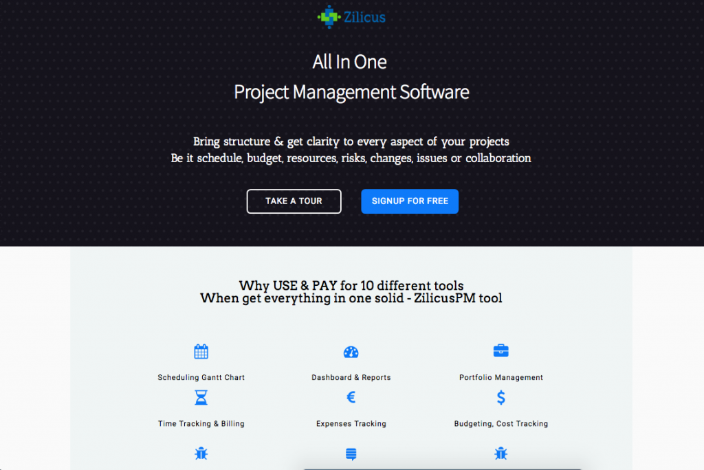 ZilicusPM All In One Project Management Software