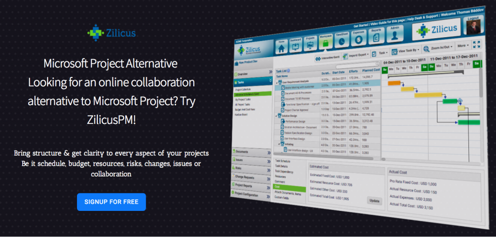 ZilicusPM Project Management Software - Best MS Project Alternative