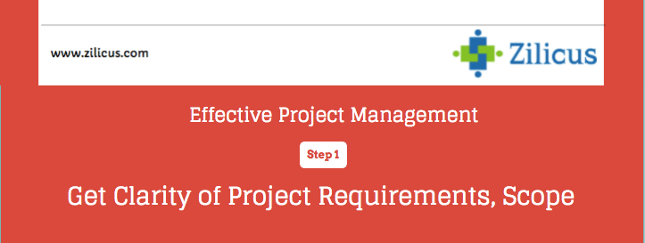 Effective Project Management - Clarity of Scope, Requirements
