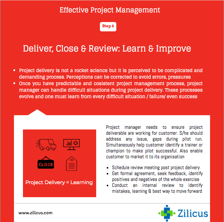 Tips for Effective Project Management - Project Delivery, Closure and Review