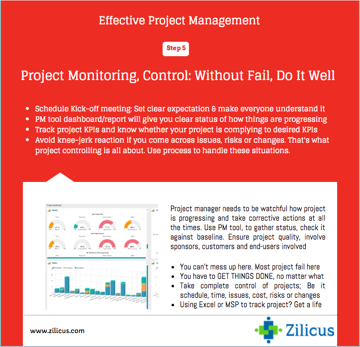 tips for effective project management monitoring and controlling