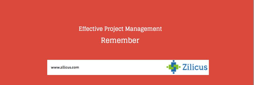 Effective Project Management - Recap