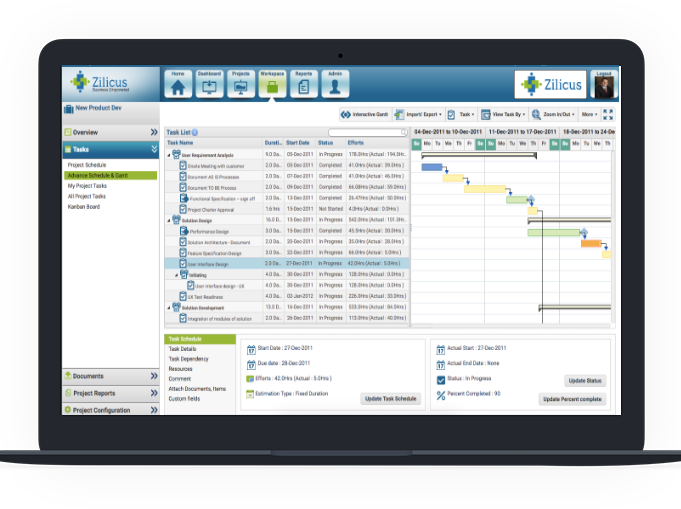 Gantt Chart Software For Project planning