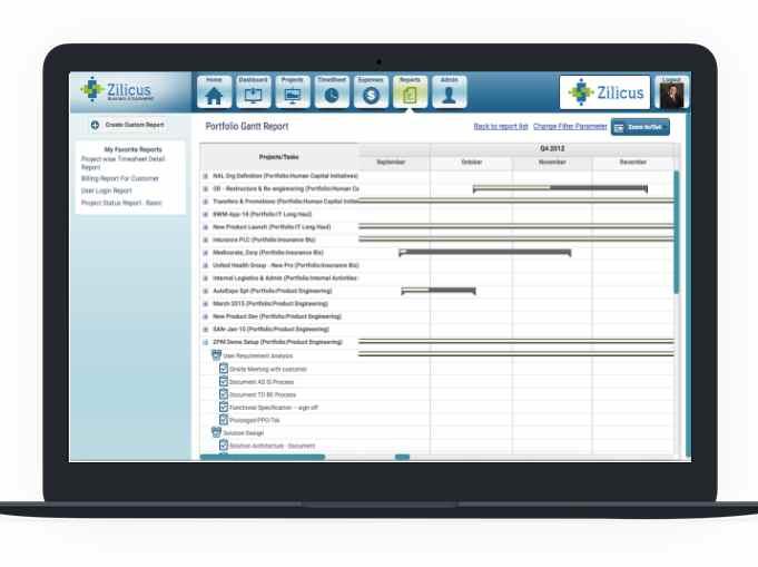 Gantt Chart Tool For Tracking Project Portfolio Gantt Chart