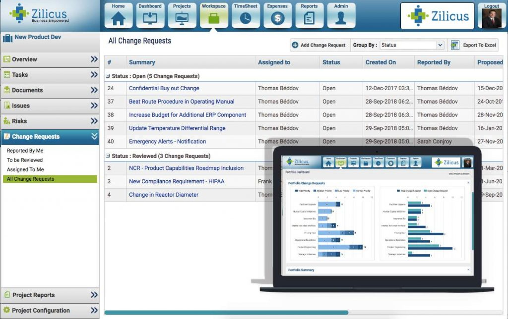Project Change Request Management Software