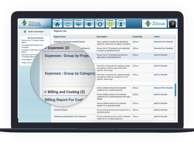 Project Expenses Reports - Project Expense Tracking Tool